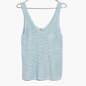 NWT Madewell Monterey Sweater Knit Tank Blue Top